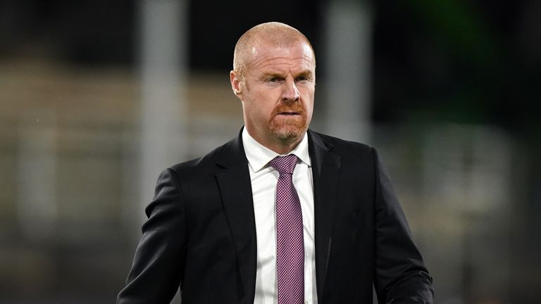 PA - Burnley manager Sean Dyche
